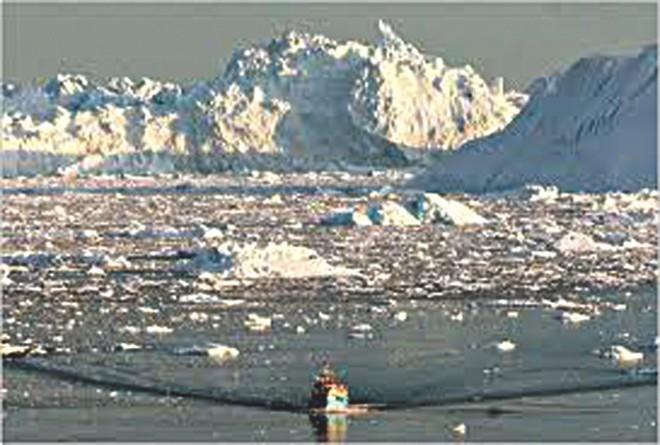 Melting ice: Rising sea level.