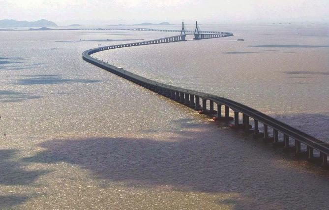 East China sea bridge to Yangshan Deep Sea Port