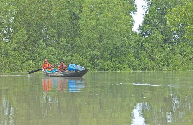 Rising sea level: Threat to the Sundarbans.